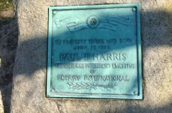 Racine Rotary Paul Harris Plaque
